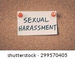 sexual harassment   Shutterstock . vector #299570405