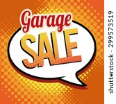garage sale illustrator over... | Shutterstock .eps vector #299573519