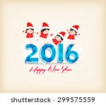 happy new year 2015 with kids... | Shutterstock .eps vector #299575559