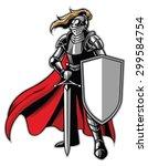 standing knight mascot | Shutterstock .eps vector #299584754