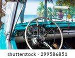 Cuba Blue Classic Car Park Nea...