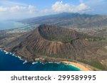 diamond head hawaii | Shutterstock . vector #299589995