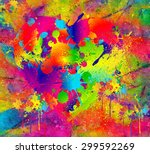 splattered paint. abstract... | Shutterstock . vector #299592269