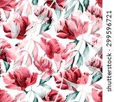 seamless tropical flower  plant ... | Shutterstock . vector #299596721
