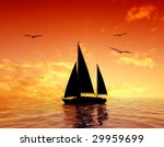 the ancient ship in the sea | Shutterstock . vector #29959699