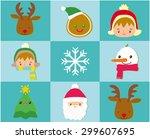 christmas background | Shutterstock .eps vector #299607695