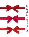 various red gift bows with... | Shutterstock . vector #29961109