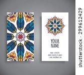 business card. vintage... | Shutterstock .eps vector #299612429