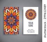 business card. vintage... | Shutterstock .eps vector #299612489