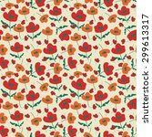 seamless pattern with...   Shutterstock .eps vector #299613317