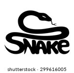 Vector Sign. Snake.