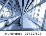 corridor inside the airport | Shutterstock . vector #299617529