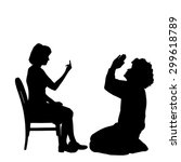 vector silhouette of couple who ...   Shutterstock .eps vector #299618789