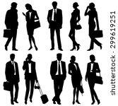 business people   global team   ... | Shutterstock .eps vector #299619251