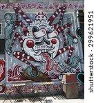 new york   july 23  2015  mural ... | Shutterstock . vector #299621951