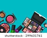 vector fashion female makeup... | Shutterstock .eps vector #299631761