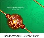 beautiful creative rakhi on... | Shutterstock .eps vector #299641544