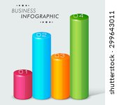 colorful 3d infographic bars... | Shutterstock .eps vector #299643011