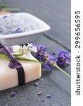 different cosmetic creams  bath ... | Shutterstock . vector #299656595