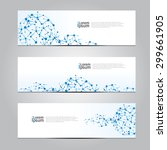 vector design banner network... | Shutterstock .eps vector #299661905