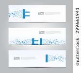 vector design banner technology ... | Shutterstock .eps vector #299661941