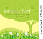card design with stylized tree... | Shutterstock .eps vector #29966350