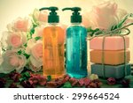 body care product shower... | Shutterstock . vector #299664524