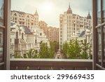 residential building area in... | Shutterstock . vector #299669435