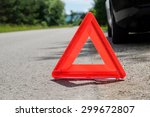 triangle on the road | Shutterstock . vector #299672807