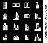 vector white building icon set... | Shutterstock .eps vector #299677505