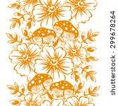 beautiful wallpaper seamless...   Shutterstock .eps vector #299678264