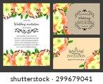 vintage invitation card of...   Shutterstock .eps vector #299679041