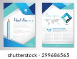 vector brochure flyer design... | Shutterstock .eps vector #299686565