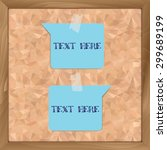 blue paper template attached on ... | Shutterstock .eps vector #299689199