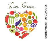 live green concept card with... | Shutterstock .eps vector #299690915