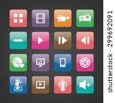 dj icons universal set for web... | Shutterstock .eps vector #299692091
