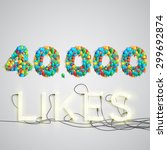 number of likes with a neon... | Shutterstock .eps vector #299692874