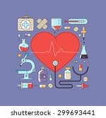 medicine background with the... | Shutterstock .eps vector #299693441