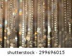 blur golden bokeh from... | Shutterstock . vector #299696015