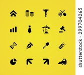economy icons universal set for ... | Shutterstock .eps vector #299704265
