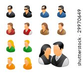 professional business people... | Shutterstock .eps vector #29970649
