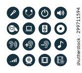 dj icons universal set for web... | Shutterstock .eps vector #299711594