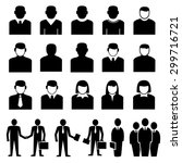 people icons vector | Shutterstock .eps vector #299716721
