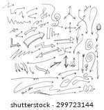 vector hand drawn arrows set... | Shutterstock .eps vector #299723144