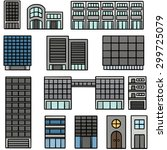 vector set of building | Shutterstock .eps vector #299725079