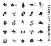 set of twenty five nature icons | Shutterstock .eps vector #299726651