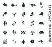 set of twenty five nature icons | Shutterstock .eps vector #299726651