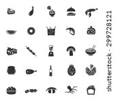 set of twenty five food icons | Shutterstock .eps vector #299728121