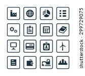economy icons universal set for ... | Shutterstock .eps vector #299729075