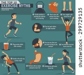 top 10 exercise myths gym... | Shutterstock .eps vector #299729135